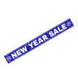 new year sale scratched rectangle stamp seal with vector image vector image