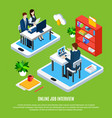 online interview business background vector image vector image