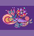 original unique paisley design decorative flower vector image vector image