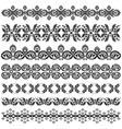 ottoman serial patterns three vector image vector image