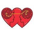 psychology love vector image vector image