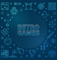 retro games concept blue outline frame vector image vector image