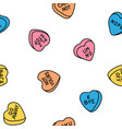 rude valentine conversation hearts ironic candy vector image vector image