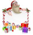 santa christmas banner vector image vector image