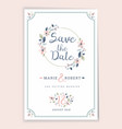 save the date wedding invitation card design vector image vector image