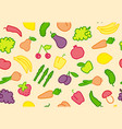seamless fruit-vegetable background vector image vector image