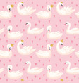 seamless pattern with white swans babackground vector image