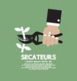 Secateurs Gardening Tool vector image