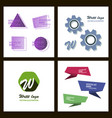 set of a minimalistic hipster colored frame vector image vector image