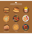 set of american food vector image vector image