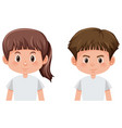 set of boy and girl character vector image vector image