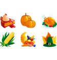 set of icon for thanksgiving vector image vector image