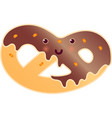 soft pretzel with poppy-seed isolated fresh tasty vector image vector image