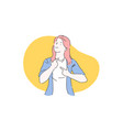 successful lady self-esteem girl power concept vector image