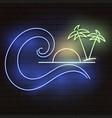 summer neon logo vector image vector image