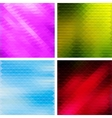 Triangular Mosaic Backgrounds Set vector image vector image