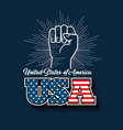 united states design vector image vector image