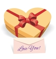 Valentines day concept with gift box vector image vector image