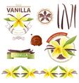 vanilla emblems vector image vector image