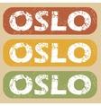 Vintage Oslo stamp set vector image vector image