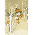 winter boy vector image vector image