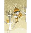 winter boy vector image