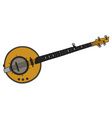 Yellow electric banjo vector image vector image