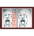 Zombie Party poster collection vector image vector image