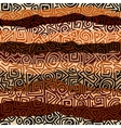 Ethnic strikes pattern in brown colors vector image