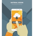 Cloud computing app mockup vector image
