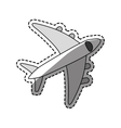Airplane travel transport vector image vector image