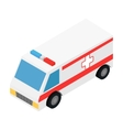 Ambulance isometric 3d icon vector image vector image
