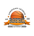 basketball logo design template vector image