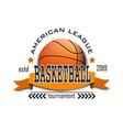 basketball logo design template vector image vector image