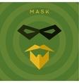 Black mask beard mustache superhero green vector image