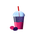 blackberry smoothies in a cup superfoods and vector image vector image
