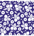 blueberry seamless blue vector image vector image