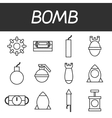 Bomb icons set vector image