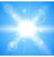 Bright blue background vector image vector image
