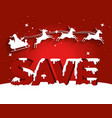 christmas sale label with santa claus carriage vector image