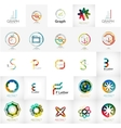 collection abstract universal logos vector image vector image