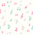 colorful music note pattern vector image vector image