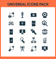 communication icons set with satellite with vector image