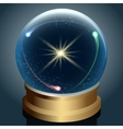 Crystal ball with universe inside vector image vector image