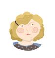 curly blonde girl flat avatars vector image