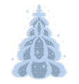 december tree vector image vector image