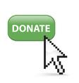 Donate Button Click vector image