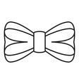 elegance bow tie icon outline style vector image vector image