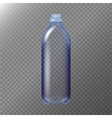 Empty Transparent Bottle Realistic Blank Mock Up vector image vector image
