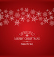 festive merry christmas poster vector image